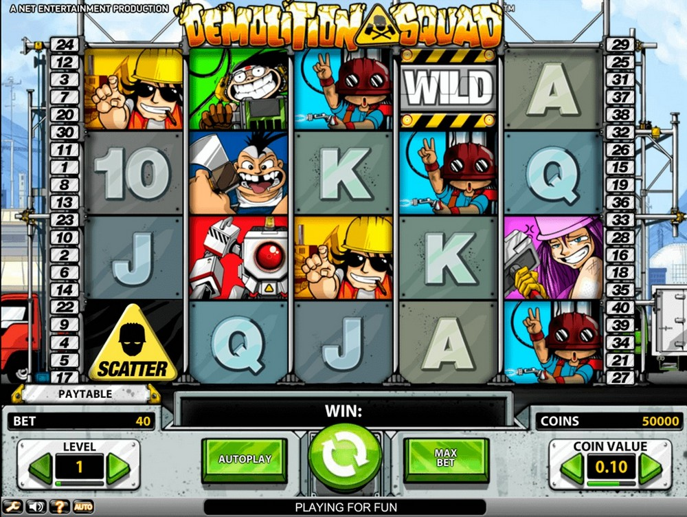 Бесплатный игровой автомат Demolition Squad