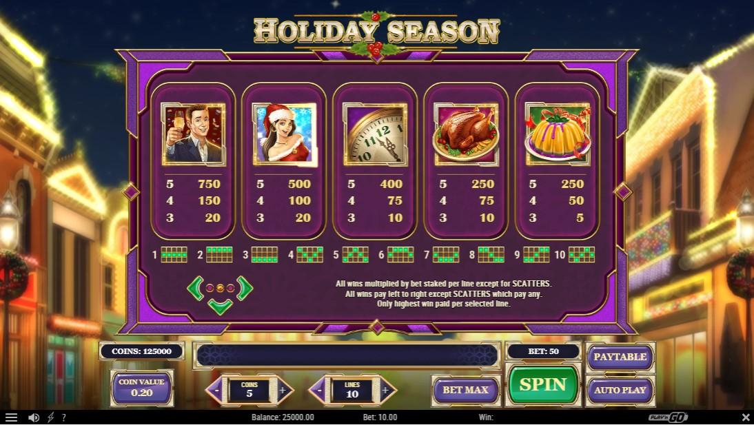 Онлайн слот Holiday Season