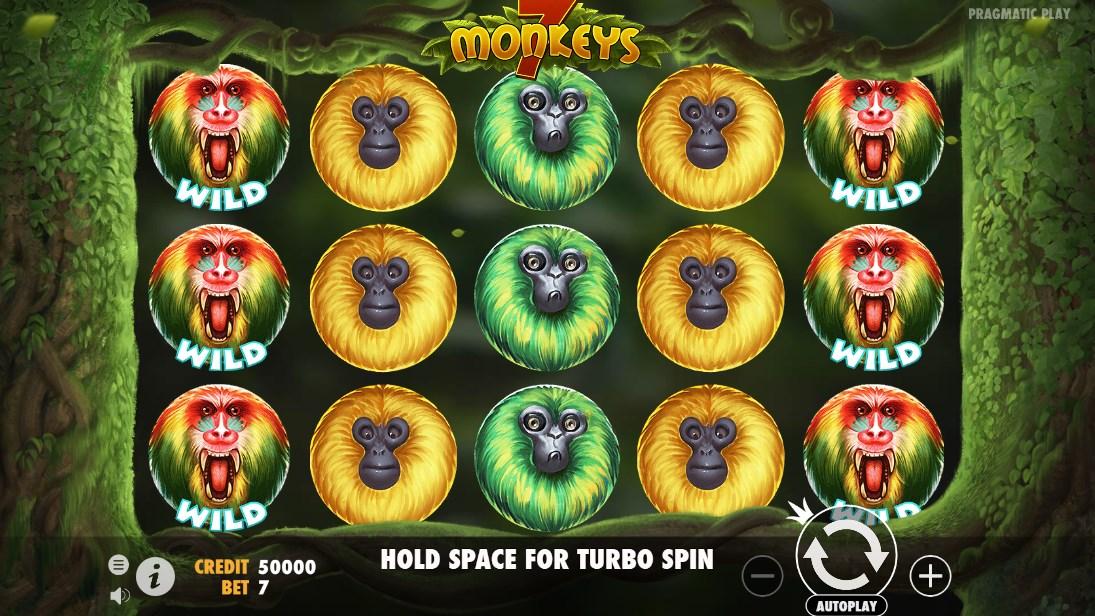 Играть бесплатно 7 Monkeys