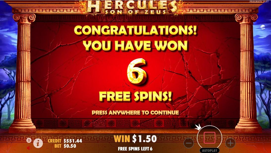 Играть Hercules Son of Zeus бесплатно