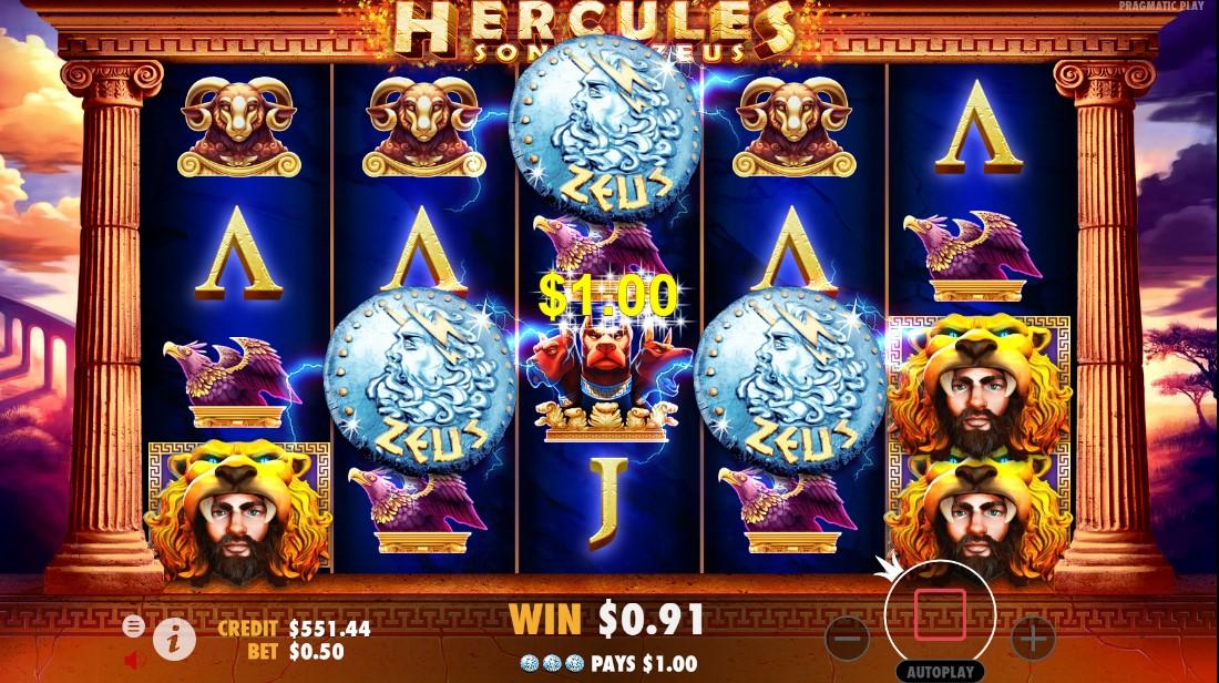 Бесплатный слот Hercules Son of Zeus