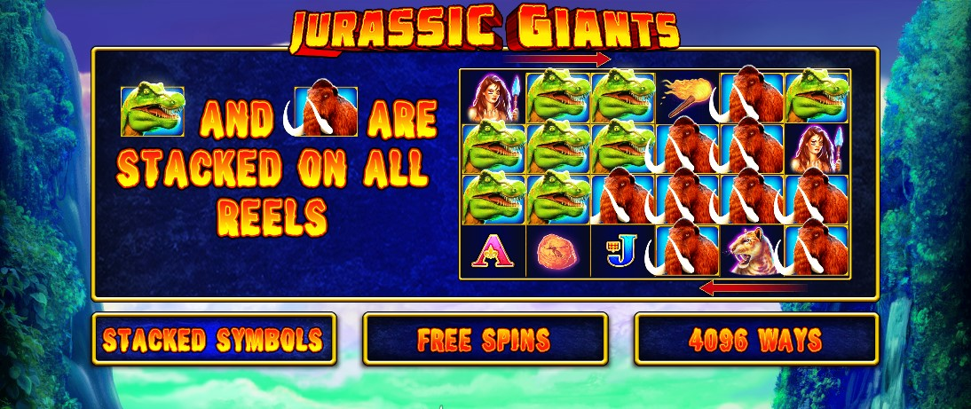Игровой автомат Jurassic Giants