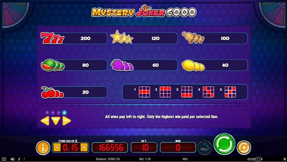 Mystery Joker 6000 игровой автомат