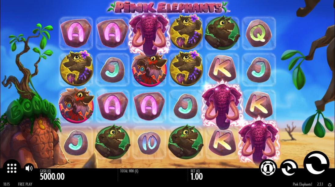 Pink Elephants бесплатный игровой автомат