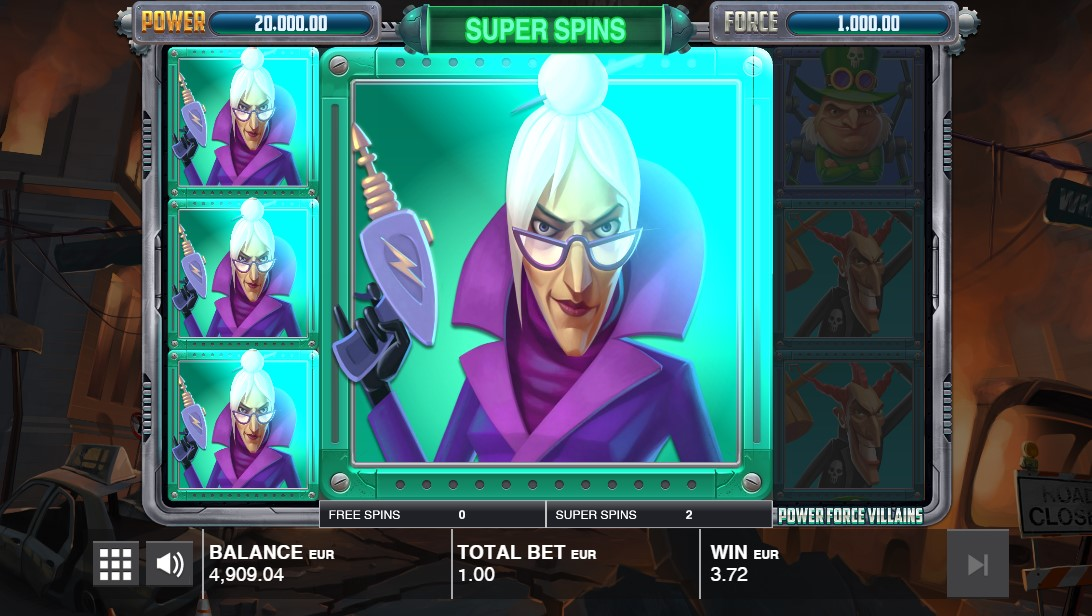 Power Force Villains слот играть бесплатно