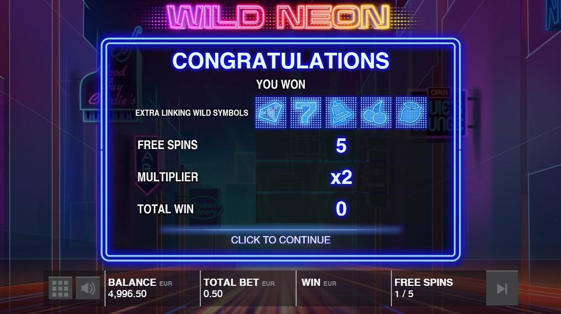 Бесплатный слот Wild Neon