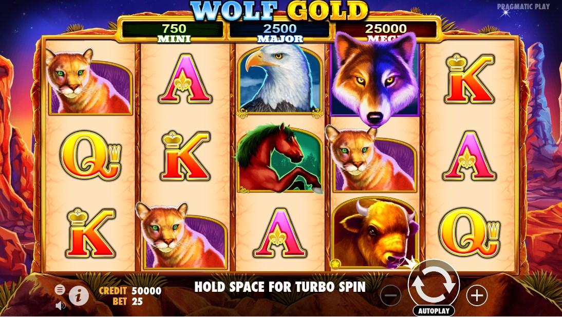 Играть бесплатно Wolf Gold