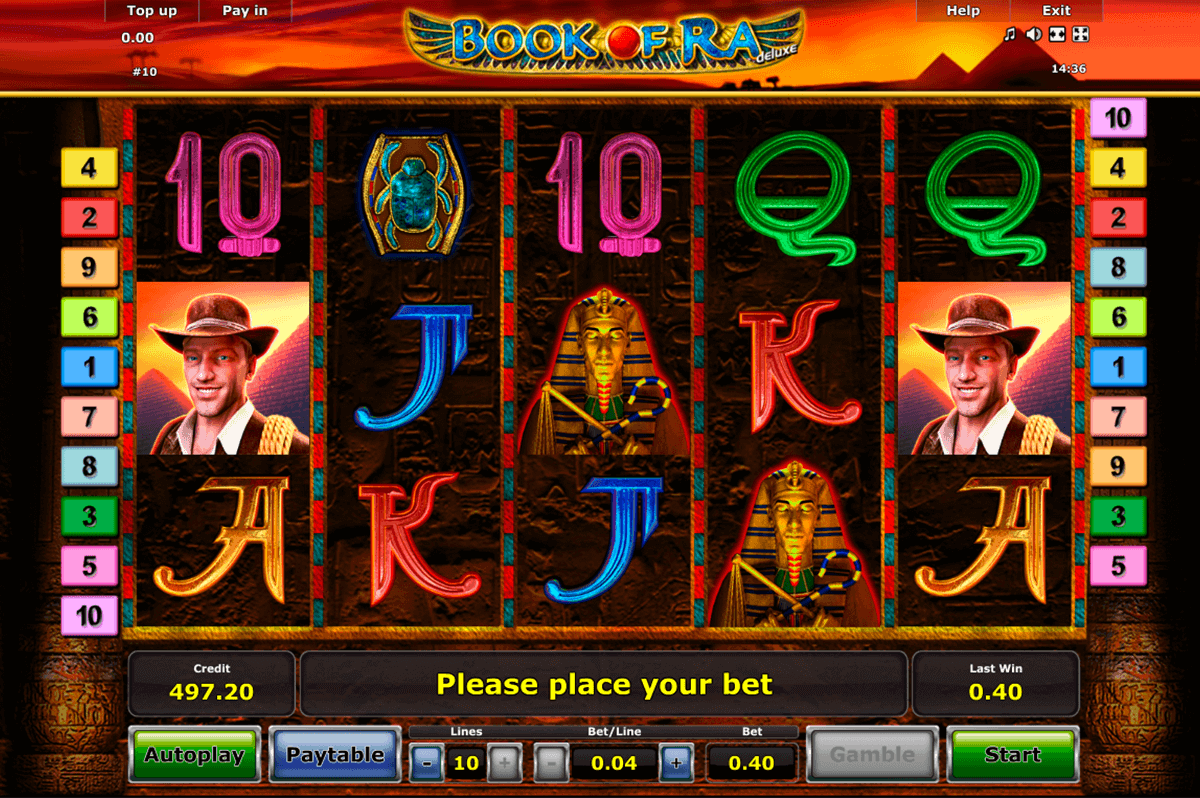 Book slot machine