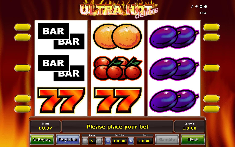 Ultra Hot Deluxe Slot - игровой автомат от Novomatic играть бесплатно