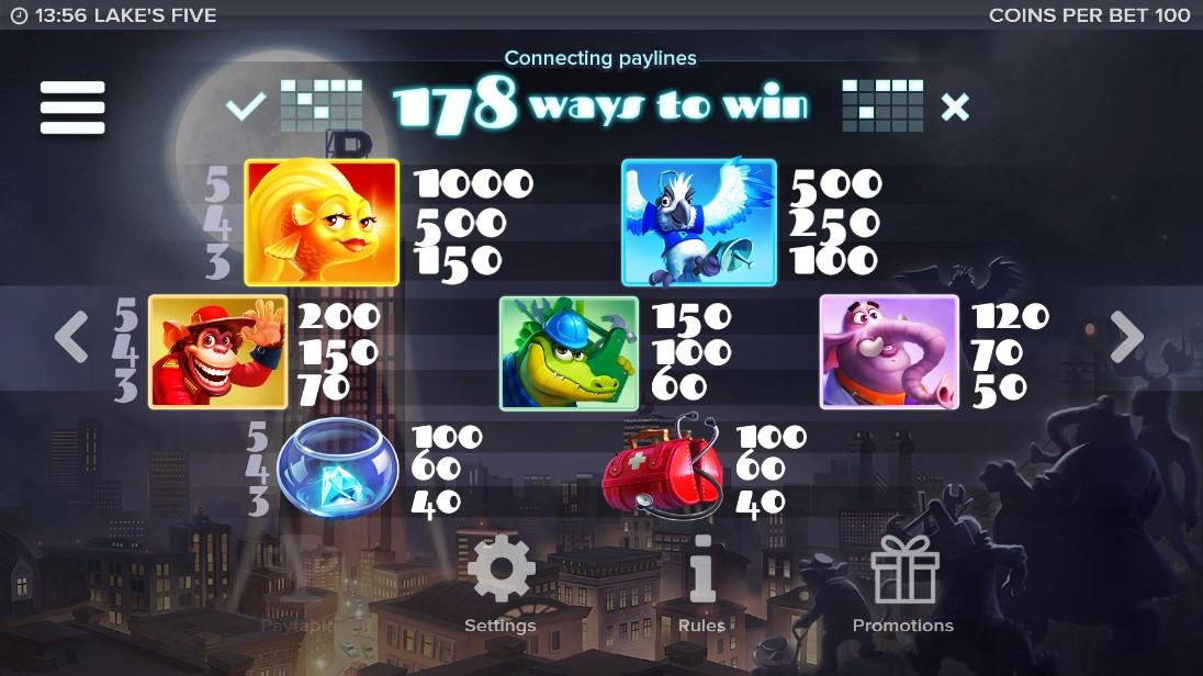 Lake's Five игровой автомат