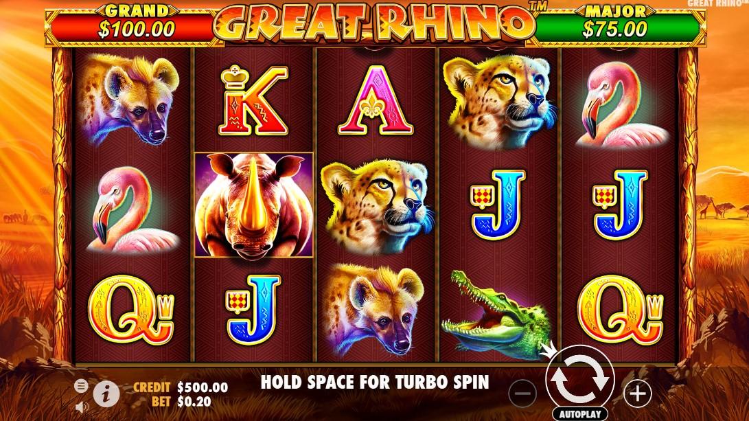 Игровой автомат Great Rhino