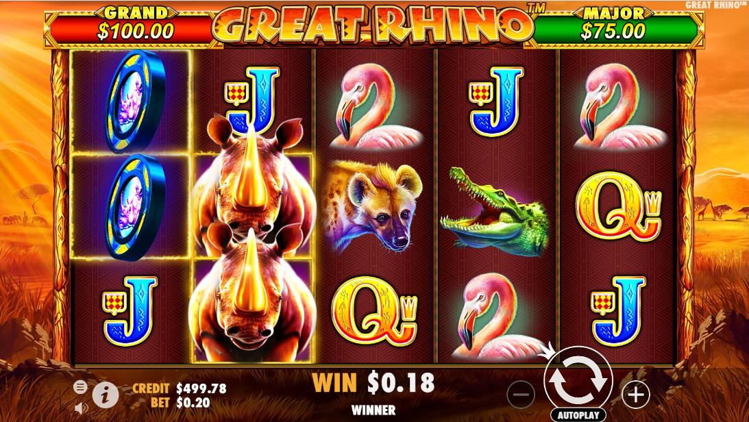 Слот Great Rhino играть