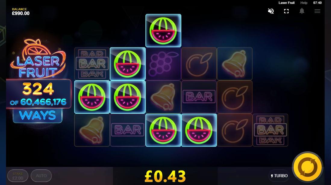 Игровой автомат Laser Fruit