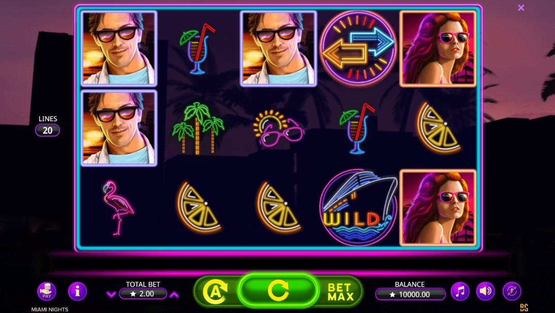 Играть в слот Miami Nights