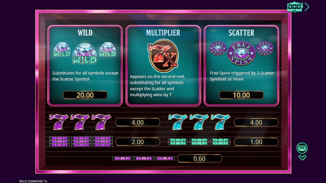 Игровой автомат Wild Diamond 7x