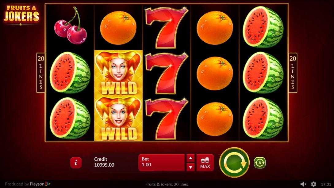 Играть бесплатно Fruits & Joker