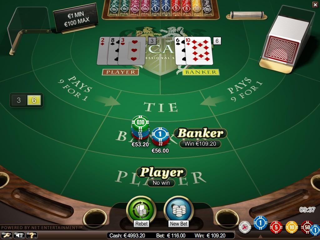 Баккара в онлайн казино