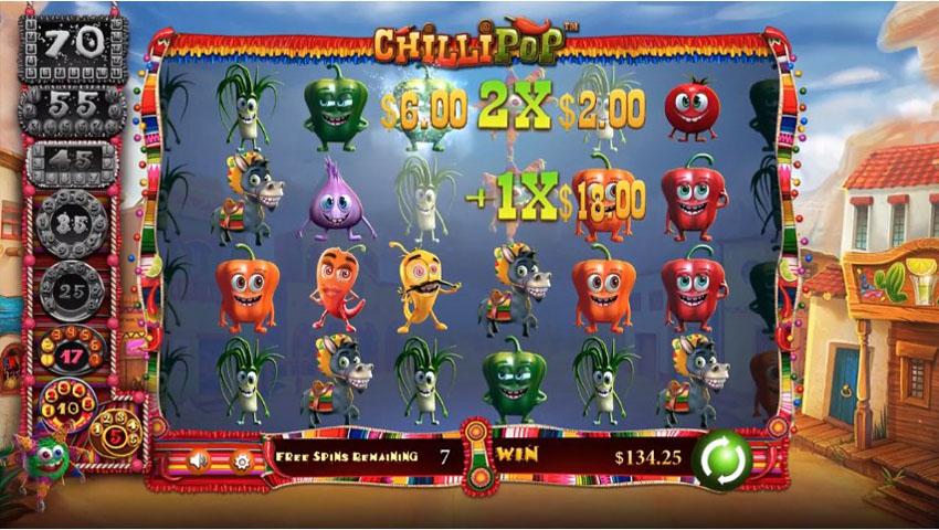 игровой автомат ChilliPop бонус раунд