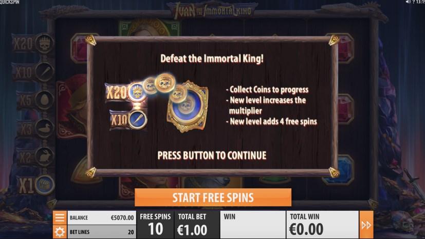 Играть без регистрации Ivan and the Immortal King