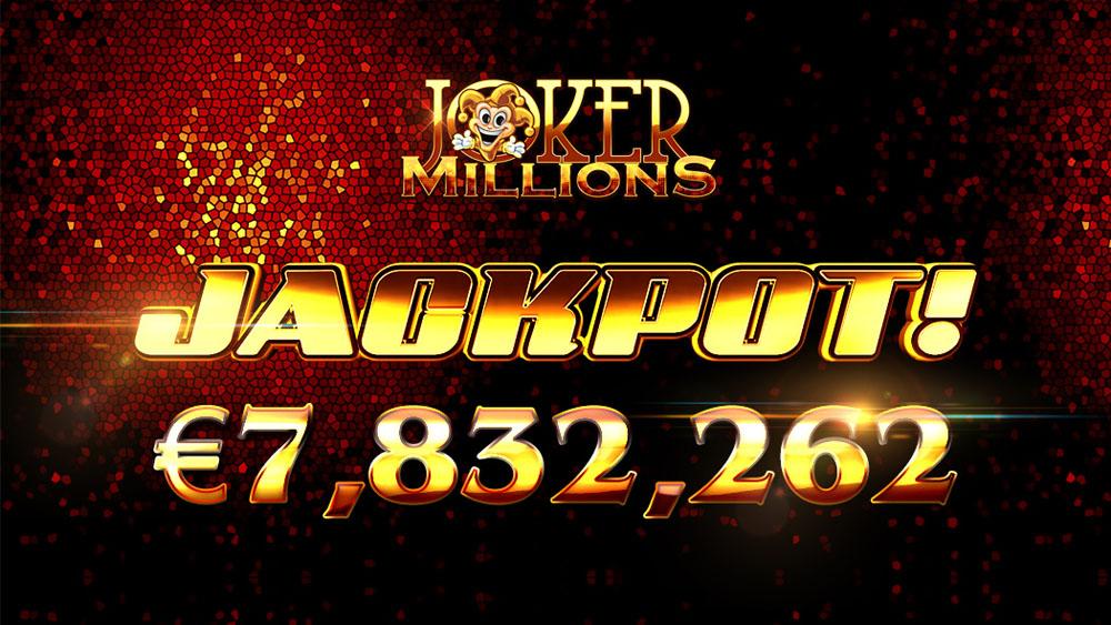 рекордный джекпот Joker Millions