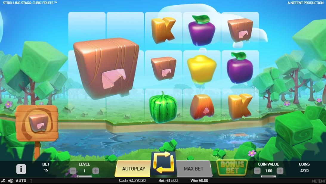 Играть Strolling Staxx Cubic Fruits