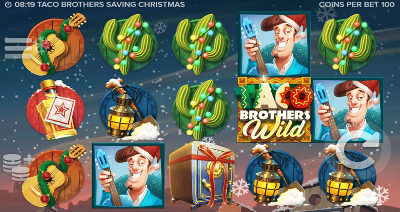 Taco Brothers игровой автомат на Рождество