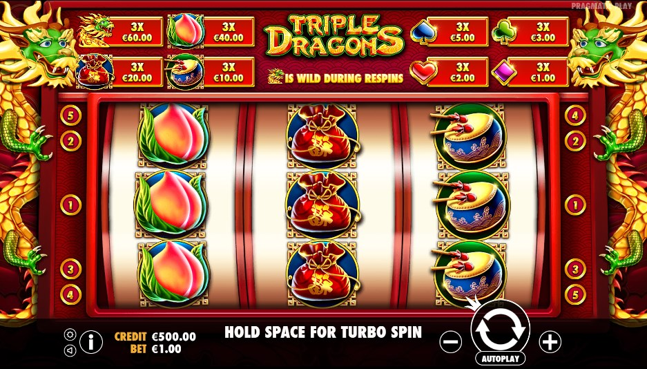 Игровой автомат Triple Dragons