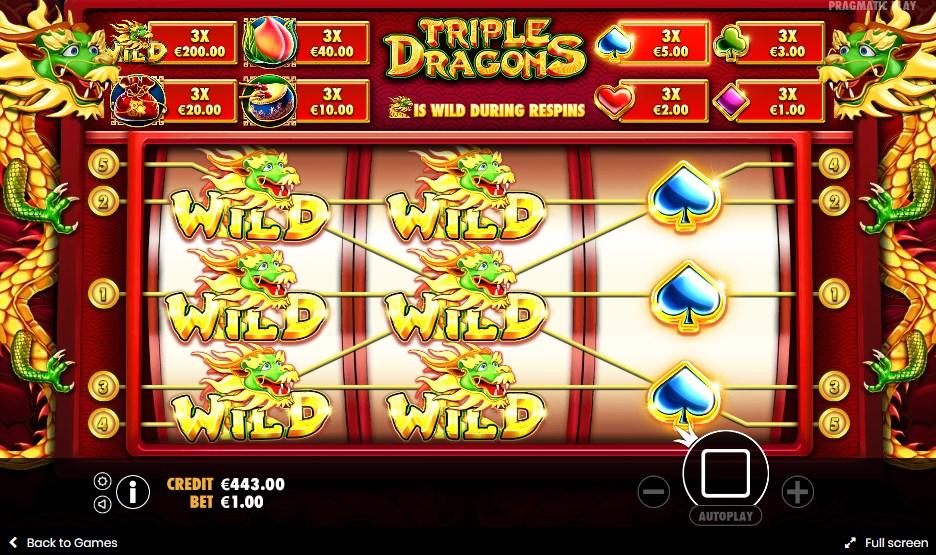 Triple Dragons бесплатный игровой автомат