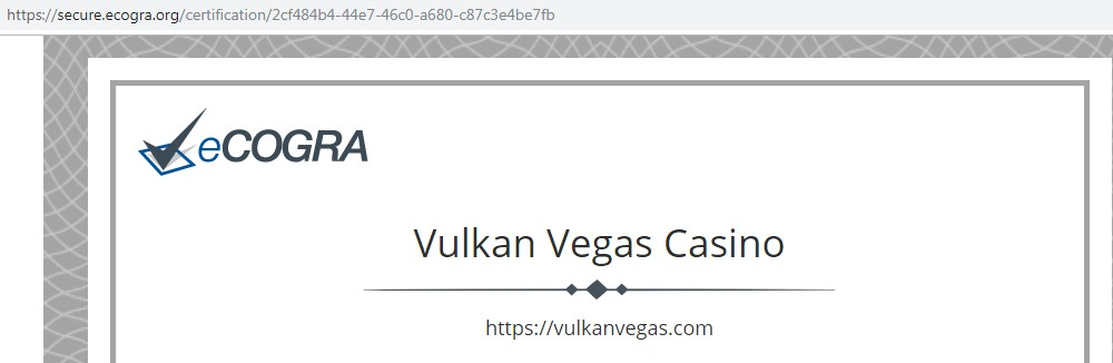 Vulkan Vegas лже Вулканы