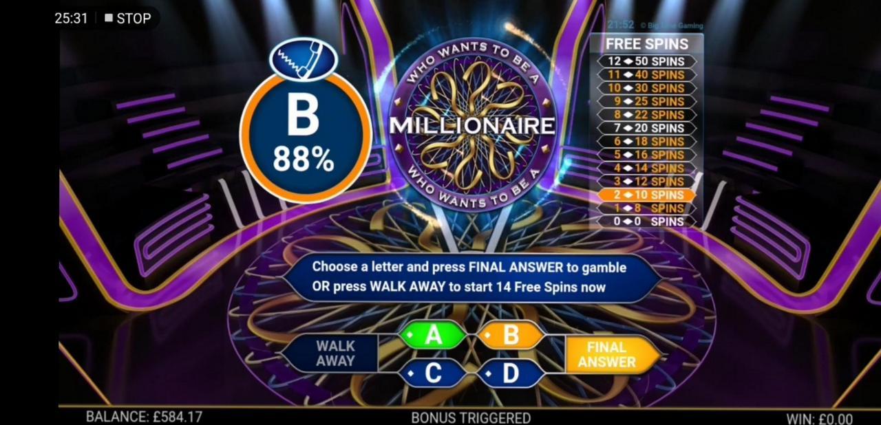 Слот Who Wants To Be A Millionaire играть