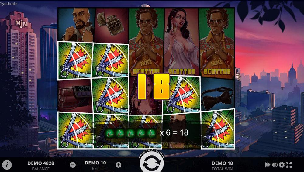 игровой автомат Syndicate от Evoplay