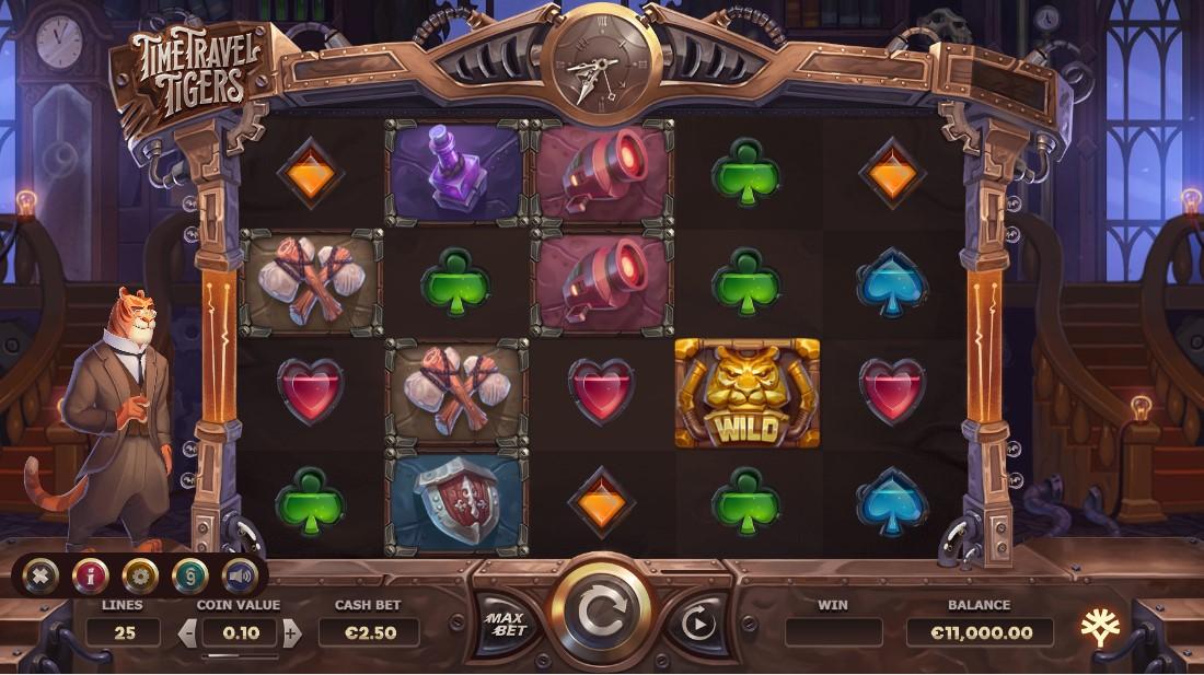 Игровой автомат Time Travel Tigers