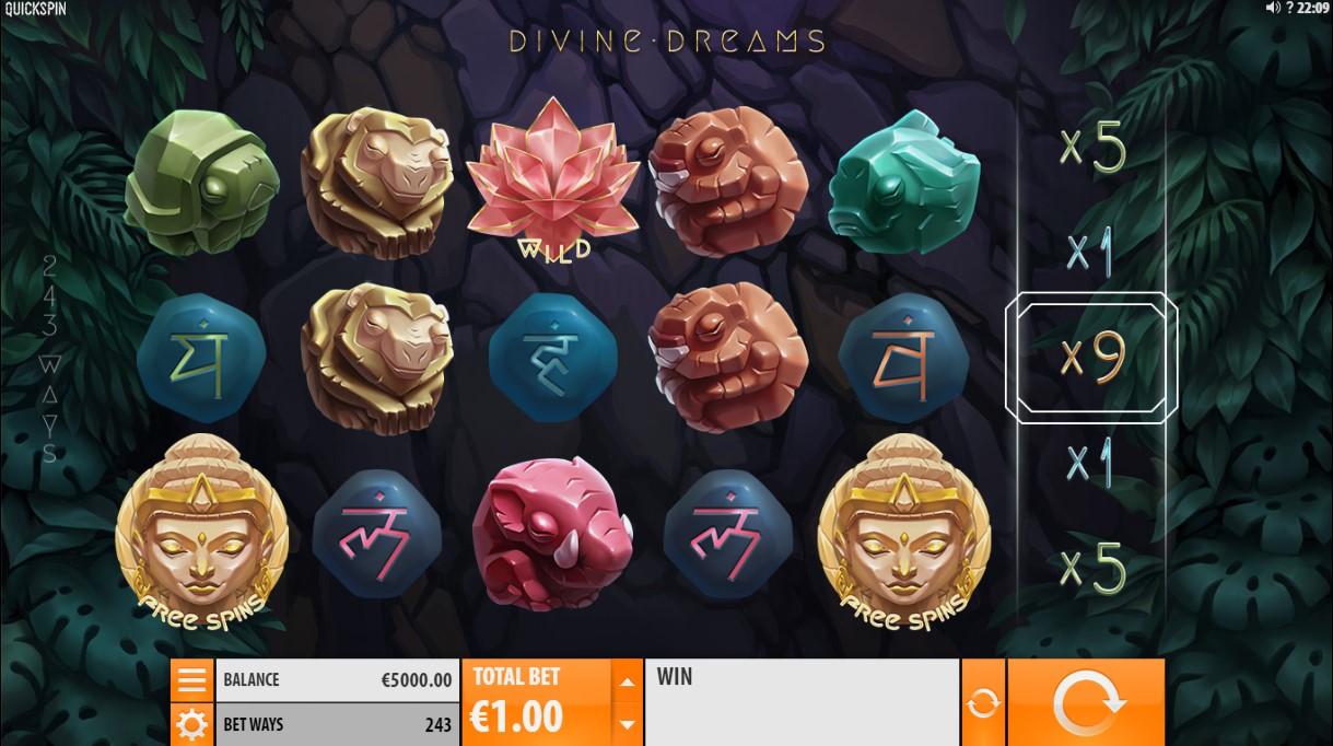 Бесплатный игровой автомат divine dreams