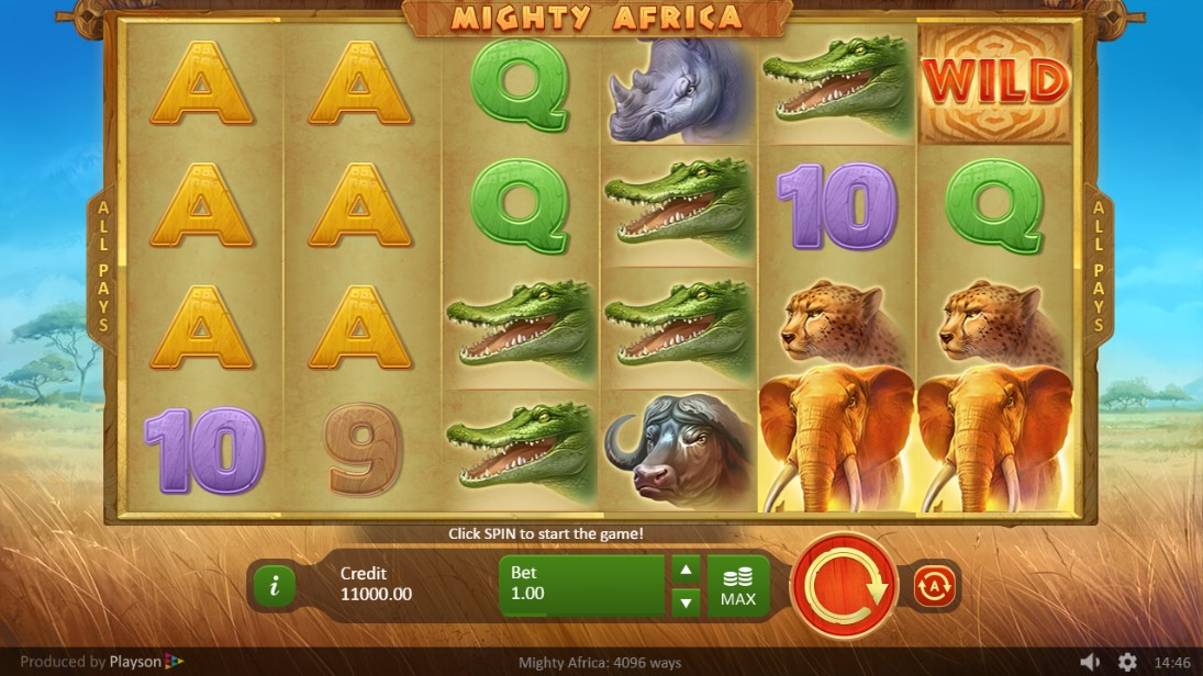 Игровой автомат Mighty Africa