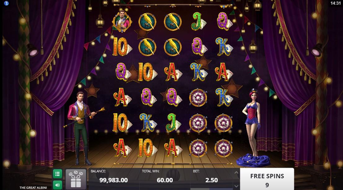 Бесплатный игровой автомат The Great Albini