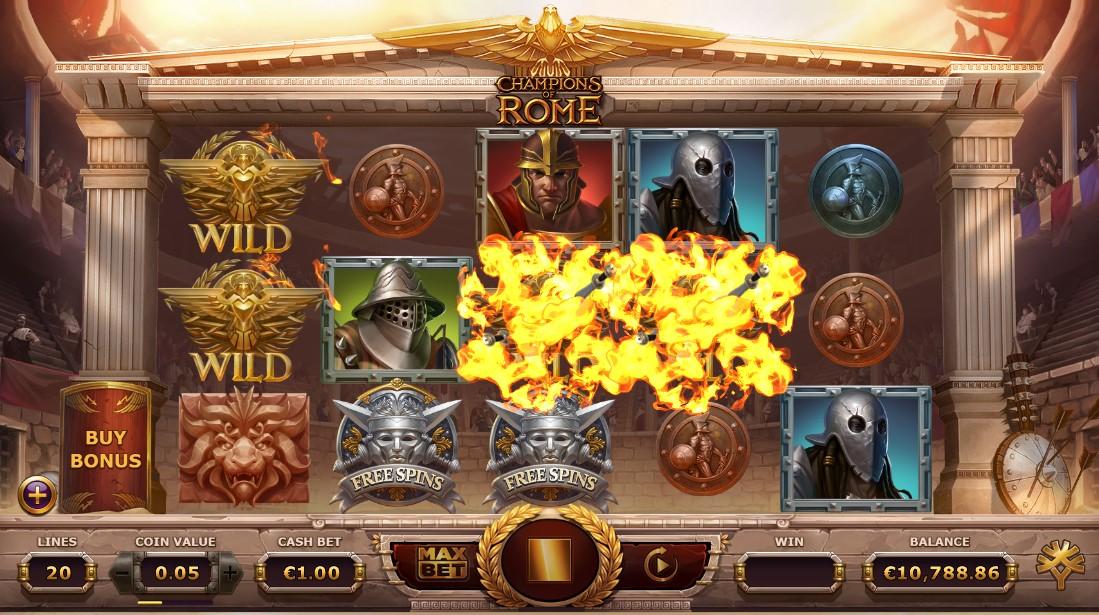 Слот Champions of Rome играть