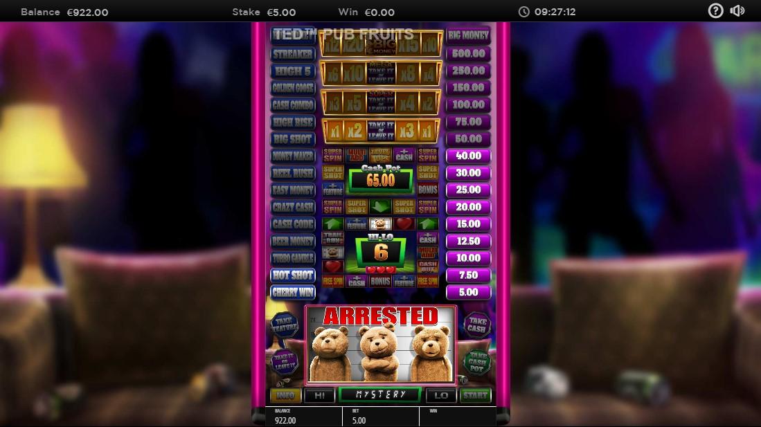 Ted Pub Fruit Series Features игровой автомат
