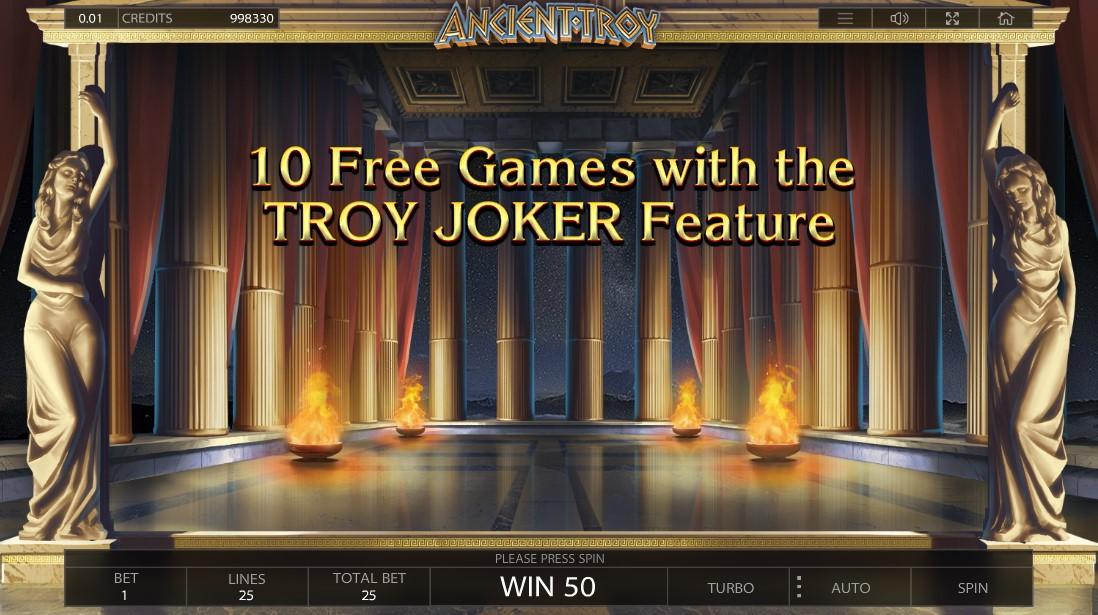 Играть бесплатно Ancient Troy
