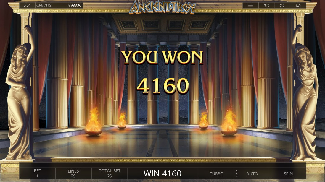 Слот бесплатный Ancient Troy