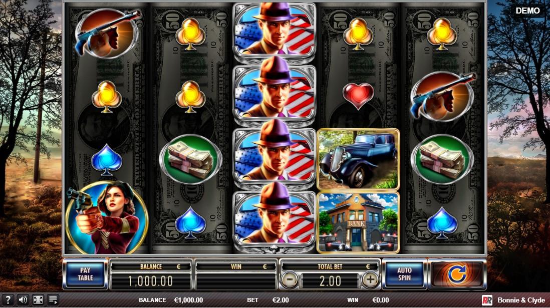 Bonnie & Clyde игровой автомат