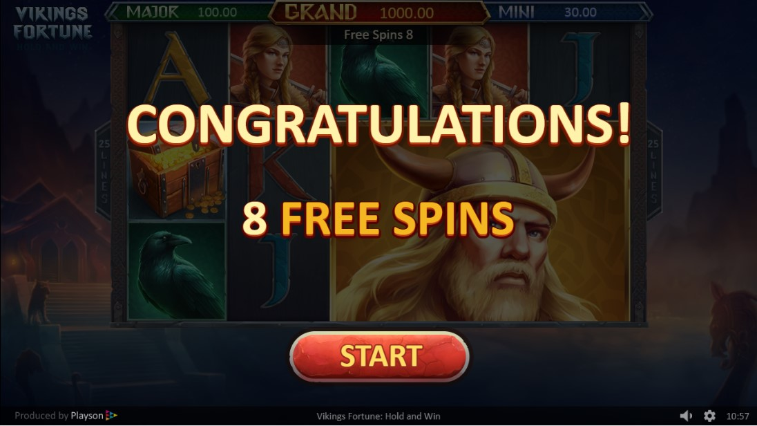 Играть бесплатно Play Vikings Fortune: Hold and Win