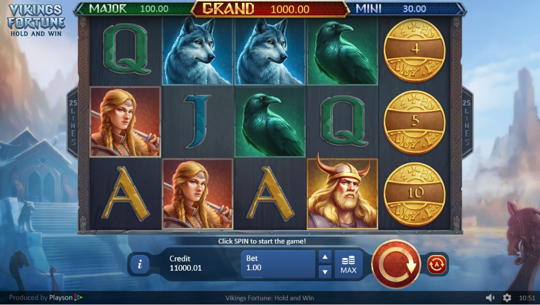 Play Vikings Fortune: Hold and Win бесплатный слот
