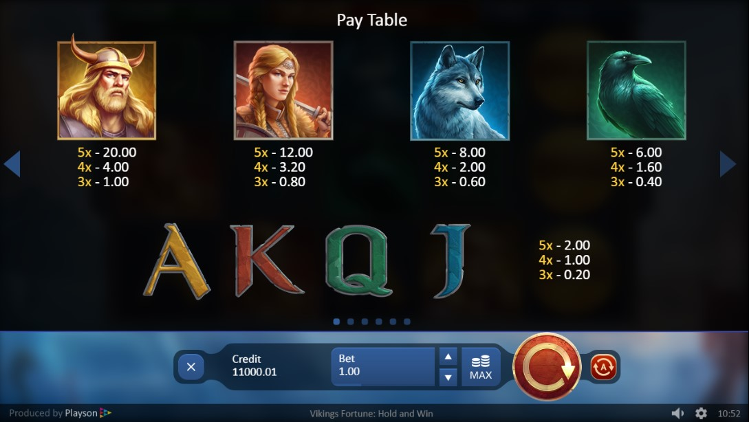 Play Vikings Fortune: Hold and Win играть без регистрации