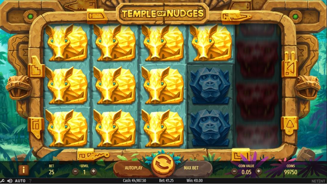 Слот Temple of Nudges лого играть