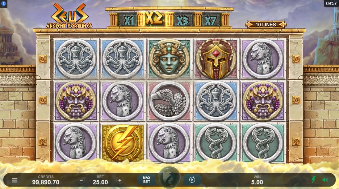 Ancient Fortunes Zeus бесплатный игровой автомат
