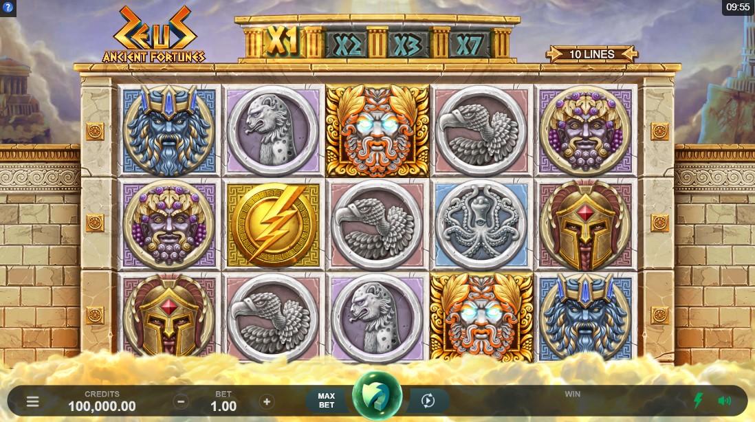 Ancient Fortunes Zeus игровой автомат