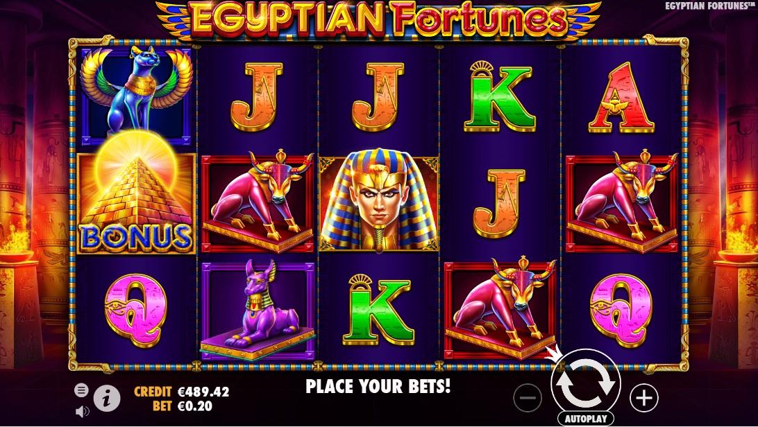 Бесплатный игровой автомат Egyptian Fortunes