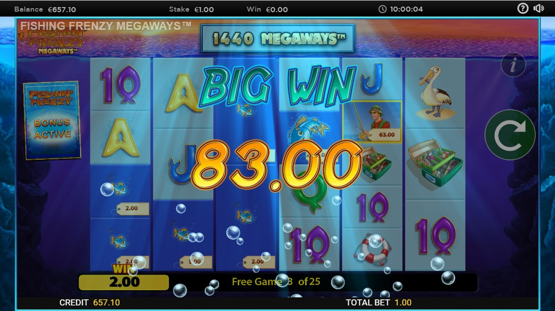 Игровой автомат Fishin' Frenzy Megaways
