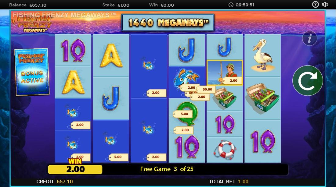 Fishin' Frenzy Megaways бесплатный игровой автомат