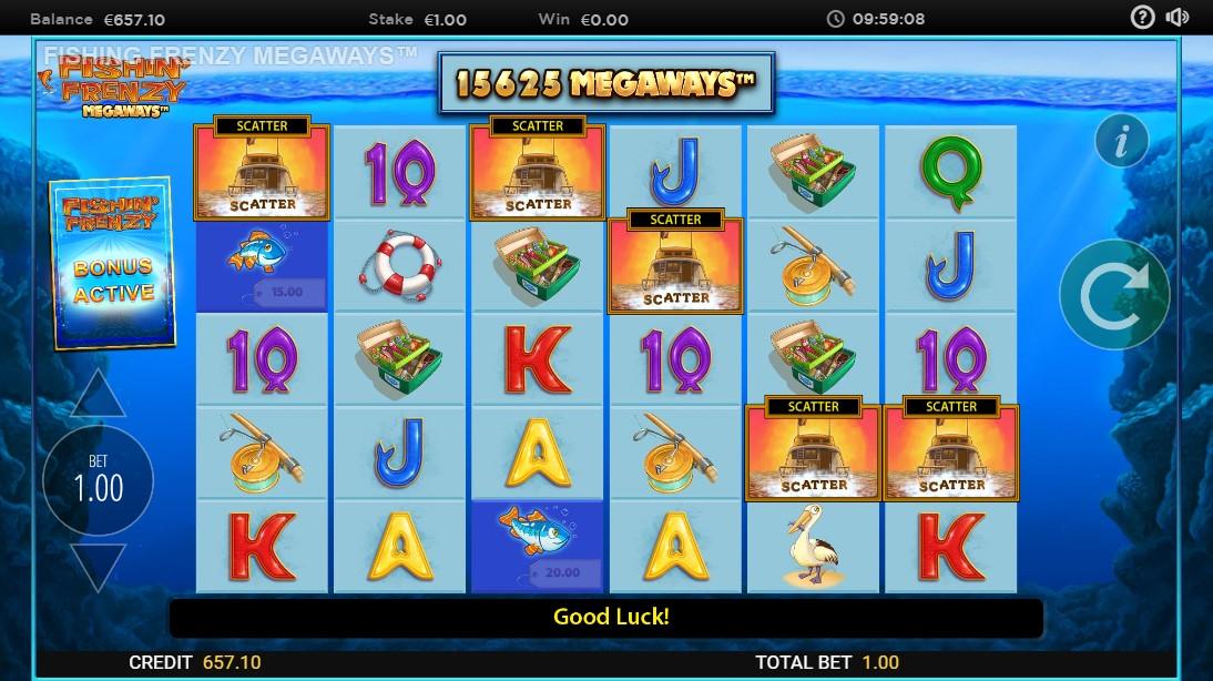 Fishin' Frenzy Megaways онлайн игровой автомат